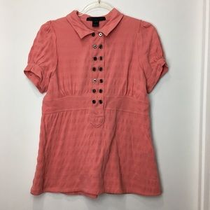 Marc Jacobs Vintage Puff Sleeve Polo Size Large